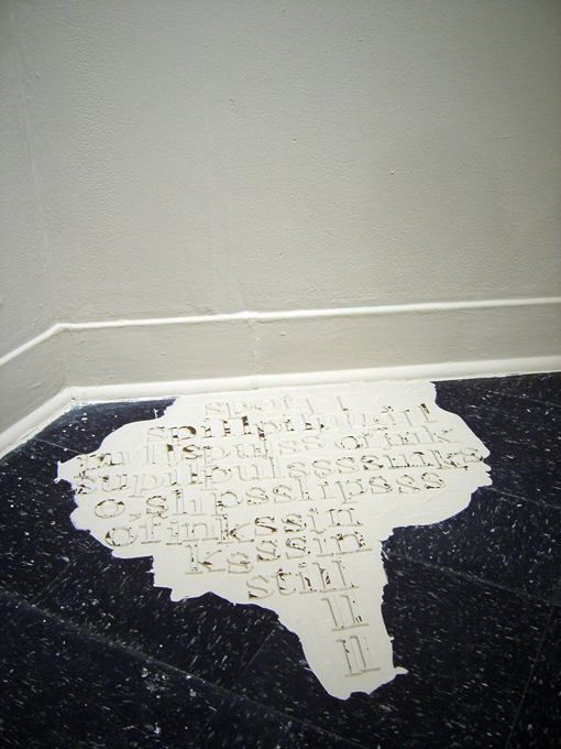 : what's done, cannot be undone. (spill), 2009